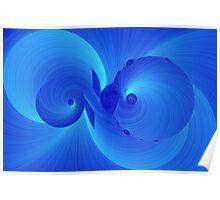Blue Swirl Poster
