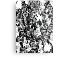 Gone in a splash, skull pattern Metal Print