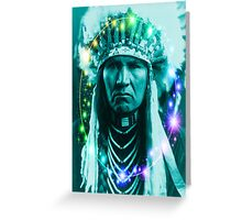 Magical Indian Chief Greeting Card