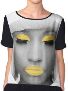 Yellow Nicki Chiffon Top