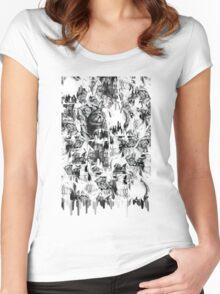 Gone in a splash, skull pattern Women's Fitted Scoop T-Shirt