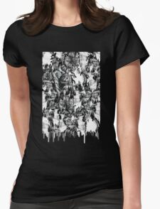 Gone in a splash, skull pattern Womens Fitted T-Shirt