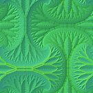 Greenery 3-D Fractal Pattern by Lyle Hatch