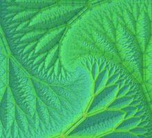 Greenery 3-D Fractal Pattern Sticker