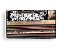 Railway Graffiti Canvas Print