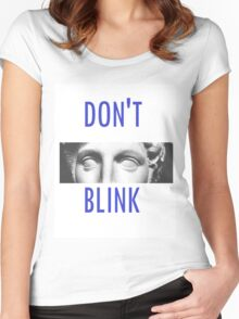 Doctor Who Weeping Angels DON'T BLINK!  Women's Fitted Scoop T-Shirt