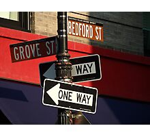 Corner of Grove and Bedford (Friends Building) NYC Photographic Print