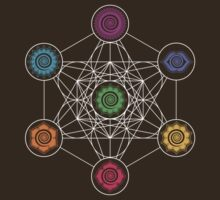 Metatrons Cube, Chakras - Cosmic Energy Centers by nitty-gritty