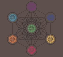 Metatrons Cube, Chakras - Cosmic Energy Centers Kids Clothes