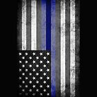 The Thin Blue Line - American Police Officer by ianscott76