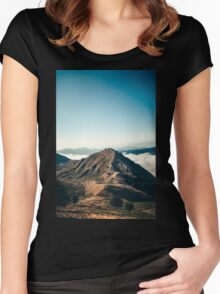 Mountains in the background XXII Women's Fitted Scoop T-Shirt
