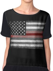 The Thin Red Line - American Firefighter Chiffon Top
