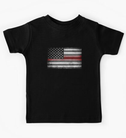 The Thin Red Line - American Firefighter Kids Tee