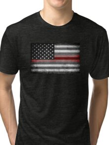 The Thin Red Line - American Firefighter Tri-blend T-Shirt