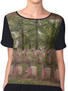 Tribute to Our Veterans Chiffon Top