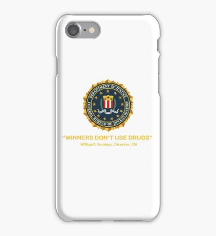 Winners Don't Use Drugs iPhone Case/Skin
