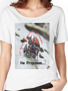 He proposes, and she wants lots of babies… Women's Relaxed Fit T-Shirt