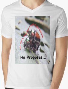 He proposes, and she wants lots of babies… Mens V-Neck T-Shirt