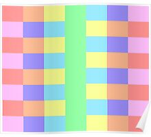 Colorful Pastel Rainbow Pattern Poster