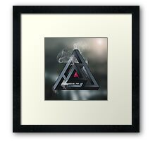 Abstract Geometry: The Portal (White Smoke) Framed Print