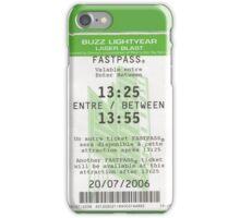 Buzz Lightyear Laser Blast Fastpass iPhone Case/Skin