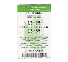 Buzz Lightyear Laser Blast Fastpass Photographic Print