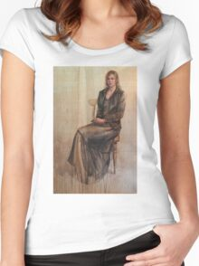 Abbie and the duckling. Women's Fitted Scoop T-Shirt