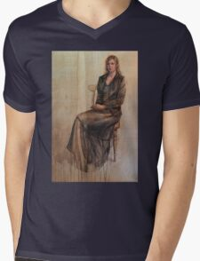 Abbie and the duckling. Mens V-Neck T-Shirt
