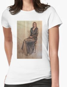 Abbie and the duckling. Womens Fitted T-Shirt