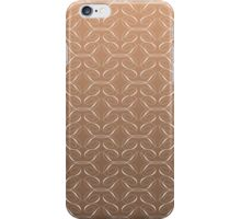 brown background with white design iPhone Case/Skin