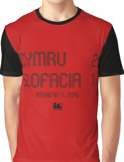 Cymru - Slofacia Graphic T-Shirt