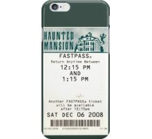 Haunted Mansion Fastpass iPhone Case/Skin
