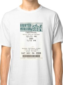 Haunted Mansion Fastpass Classic T-Shirt