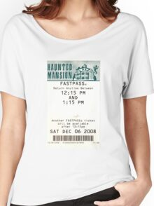Haunted Mansion Fastpass Women's Relaxed Fit T-Shirt