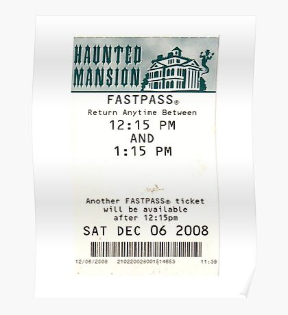Haunted Mansion Fastpass Poster