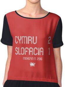 Cymru - Slofacia Chiffon Top