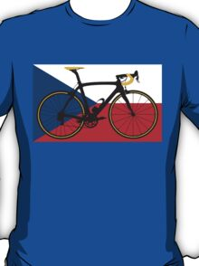 Bike Flag Czech Republic (Big - Highlight) T-Shirt