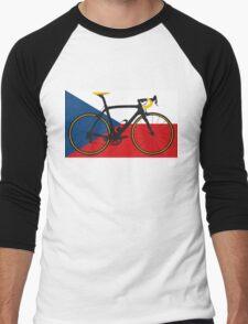 Bike Flag Czech Republic (Big - Highlight) Men's Baseball ¾ T-Shirt