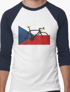 Bike Flag Czech Republic (Big - Highlight) Men's Baseball ¾ T-Shirt