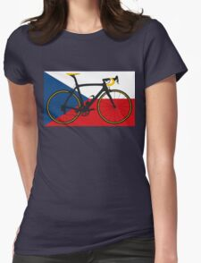 Bike Flag Czech Republic (Big - Highlight) Womens Fitted T-Shirt