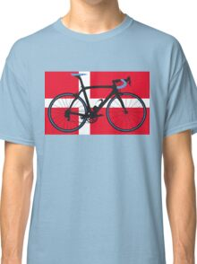 Bike Flag Denmark (Big - Highlight) Classic T-Shirt