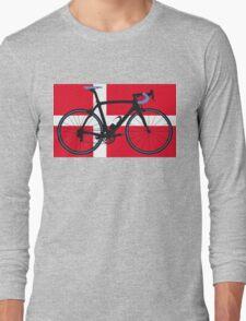 Bike Flag Denmark (Big - Highlight) Long Sleeve T-Shirt