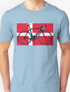 Bike Flag Denmark (Big - Highlight) T-Shirt