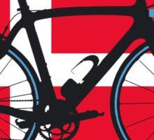 Bike Flag Denmark (Big - Highlight) Sticker