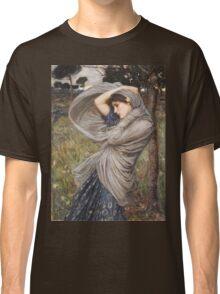 John William Waterhouse - Boreas . Woman portrait: sensual woman, girly art, female style, pretty women, femine, beautiful dress, cute, creativity, love, sexy lady, erotic pose Classic T-Shirt