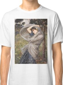 John William Waterhouse - Boreas . Woman portrait: sensual woman, girly art, female style, pretty women, femine, beautiful dress, cute, creativity, love, sexy lady, erotic pose Classic T-Shirt