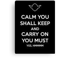 Yoda Star Wars Keep Calm and Carry On Canvas Print