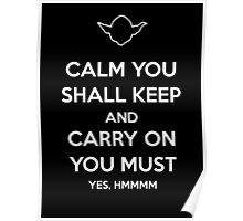 Yoda Star Wars Keep Calm and Carry On Poster