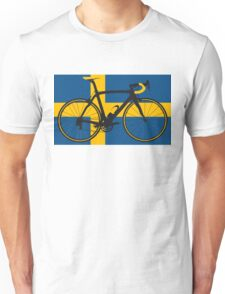 Bike Flag Sweden (Big - Highlight) Unisex T-Shirt