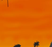 Asia Sunset Scene Sticker